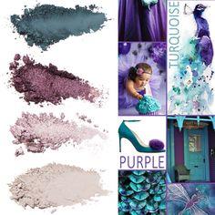 Peacock inspired palette!!  www.everydaymakeupbarbie.com