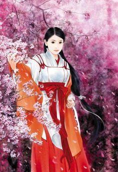 Post card art (Chinese Hanfu Hairstyle 28)