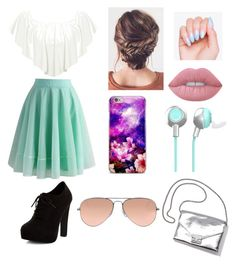 """""""Untitled #8"""" by olivia-186 on Polyvore featuring WearAll, Chicwish, New Look, Lime Crime, Loeffler Randall and Ray-Ban"""