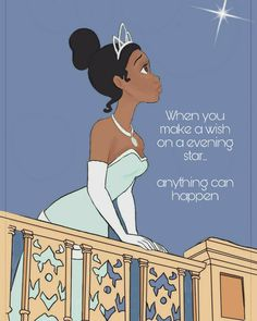Tiana evening star princess and the frog quote Wallpaper