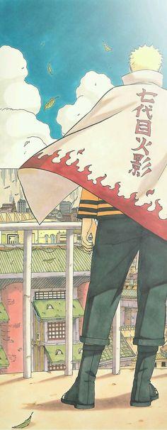 Toda vez que eu vejo o Naruto com roupa de Hokage meu coração apertado ❣️