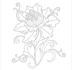 Coloriage de fleur!! Adult Coloring, Coloring Books, Coloring Pages, Happy Planner, Quilts, Stitch, Tattoos, Embroidery Ideas, Interesting Stuff