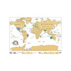 Luckies of London USLUSCR Scratch Map Carte du monde à gratter Marron Clair 82.5 x 59.4 cm: Luckies of London Ltd.: Amazon.fr: Cuisine & Maison