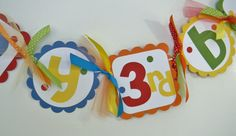 Elmo Cookie Monster Sesame Street Happy Birthday Banner with NAME Banner. $35.00, via Etsy.