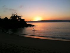 Sunrise. Balmoral beach, Sydney, Australia.