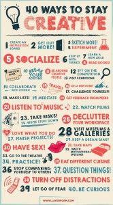 #Creatività: 40 suggerimenti per trovare la giusta ispirazione!.