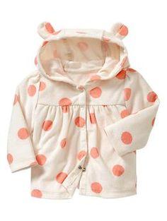 Polka dot terry jacket   Gap Accessoires De Nursery, Mode Bébé (fille), 48d21b6a6ed