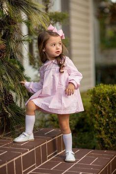 """Presley Kait"" Pink Windowpane Bloomer Set, Girls Fave – The Oaks Apparel Co. Preppy Toddler Girl, Preppy Kids, Toddler Girl Outfits, Toddler Fashion, Kids Outfits, Kids Fashion, Preppy Little Girl, Pink Toddler Dress, Toddler Girls"