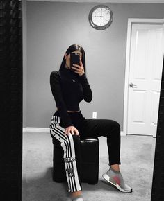 Off ootd# outfitoftheday# streetwear# selfie# nike# Athleisure Outfits, Sporty Outfits, Swag Outfits, Nike Outfits, Dance Outfits, Simple Outfits, Cool Outfits, Fashion Outfits, Cheap Fashion