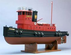 Jersey City Railroad Tug Boat Kit, Scale - Hobbies paining body for kids and adult Wooden Boat Building, Boat Building Plans, Boat Plans, Model Building, Make A Boat, Build Your Own Boat, Model Training, Plywood Boat, Boat Kits