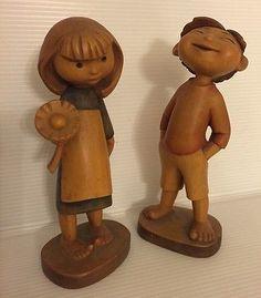 ANRI-Ltd-Ed-Ferrandiz-hand-carved-wood-figures-boy-and-girl-Discontinued-Mid-Cen