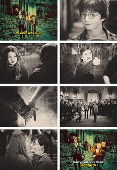 utterly heart broken when she thought Harry was dead. She just wanted to reach Harry, not caring if Voldemort killed her too in the process. Ginny Weasley, Harry Et Ginny, Harry James Potter, Harry Potter Ships, Harry Potter Facts, Harry Potter Quotes, Harry Potter Fandom, Harry Potter Universal, Harry Potter World