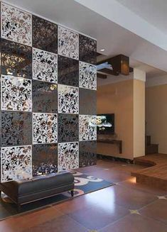 Room divider design ideas - Stylish, modern and decorative room design Room Partition Wall, Room Partition Designs, Hanging Room Dividers, Room Divider Curtain, Curtain Room, Personalised Wall Stickers, Sitting Room Decor, Divider Design, Divider Ideas