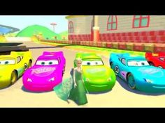 Very funny video with Minions and Disney Pixar Cars, McQueen Colors, and Frozen Elza and Hulk Happy viewing !