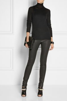 Rick Owens | Fine-knit cashmere turtleneck sweater | all black everything look NET-A-PORTER.COM