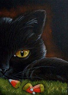 """Black Cat - Halloween"" par Cyra R. Cancel"