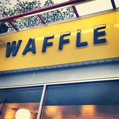 Just waffle Yellow Sign, Waffle House, Beacon Of Light, Terraces, Fried Chicken, Waffles, Restaurants, Neon Signs, Instagram Posts