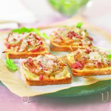 Tartines gratinées de Weight Watchers