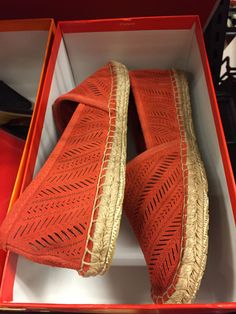 Coach coral flat in suede at Nordstrom Rack