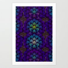 Variations on A Feather IV - Stars Aligned Art Print by TotalBabyCakes - $17.99