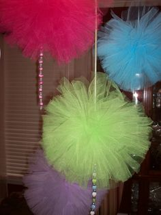 Wedding/Party Tulle Hanging Balls/  Country Sweets/etsy