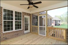 Screen porch with deck landing.