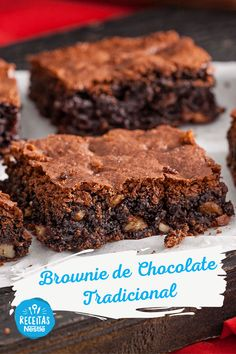 Brownie Recipe Without Chocolate, Boxed Brownie Recipes, Chocolate Brownies, Brownie Tradicional, Kids Meals, Easy Meals, Cooking Recipes, Healthy Recipes, Brownie Bar