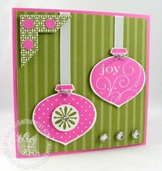 Stampin up delightful decorations pink
