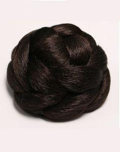 Brown Clip In Bun   Bridal Bun Hairpieces Buy Online UK