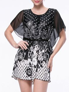 List Style, Dress Silhouette, Types Of Sleeves, Polka Dots, Street Style, Clothes For Women, Floral, Casual, Cape