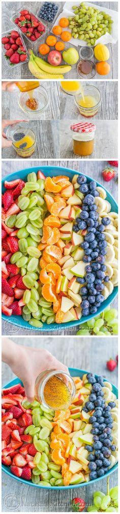 Fruit Salad with Orange Poppy Seed Syrup