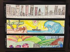 Cityscapes, Landscapes & Seascapes  first grade  Apex Elementary Art