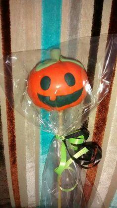 Cakepop Calabaza de Halloween