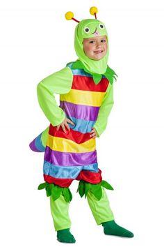Disfraz gusano niño
