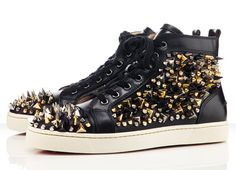 I'm not the kind of guy to post pix of sneakers, but I'll make an exception: Christian Louboutin Louis Tik Tik Flat Sneakers