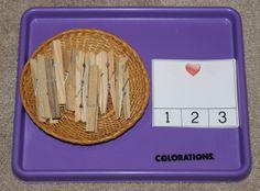 Valentine Montessori activities: Heart Clip Cards || Gift of Curiosity