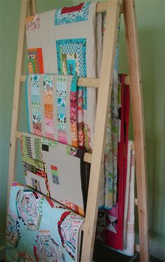 Amish Quilt Rack Ladder