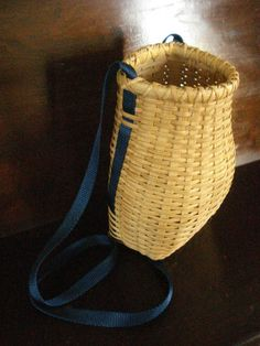Blueberry Pickers  handwoven Basket by basketdance on Etsy, $30.00
