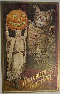 Vintage Halloween Postcard Florence Bamberger by riptheskull, via Halloween Post, Halloween Doodle, Halloween Prints, Halloween Pictures, Halloween Outfits, Spooky Halloween, Happy Halloween, Halloween Clothes, Halloween Inspo