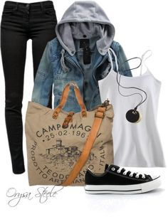 Casual Fall Outfit With Sneakers and Skinny Jeans. Looks cute and comfy Casual Fall Outfits, Fall Winter Outfits, Autumn Winter Fashion, Casual Winter, Fall Fashion, Mode Outfits, Fashion Outfits, Womens Fashion, School Outfits