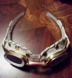 Wedding or Steampunk Goggle as hair accessory. by LiverandMonk, $28.00