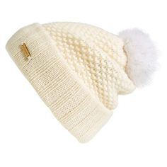 93cd920e25a Burberry Genuine Blue Fox Fur Pompom Beanie ( 450) ❤ liked on Polyvore  featuring accessories