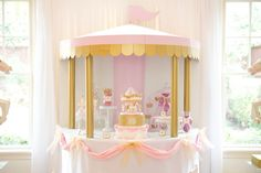 Sweet Table from a Pink Carousel Birthday Party via Kara's Party Ideas! KarasPartyIdeas.com (36)