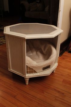 Doggy bed end table by MarcellusCreations on Etsy, $150.00