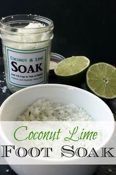 Coconut Lime Foot Soak - Easy DIY Mother's Day Gift Idea!