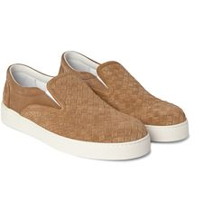Bottega Veneta - Intrecciato Suede Slip-On Sneakers