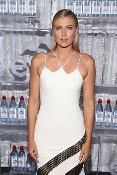 Maria Sharapova Photos Photos - Maria Sharapova attends the evian Brand Ambassador & 750 ml Sports Bottle Launch at HYDE Sunset: Kitchen + Cocktails on March 2, 2017 in West Hollywood, California. - evian Brand Ambassador & 750 ml Sports Bottle Launch