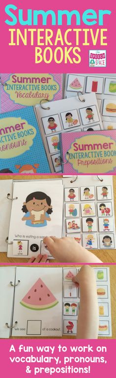 Looking for a fun way to work on vocab, pronouns, and prepositions?  Try these interactive books!