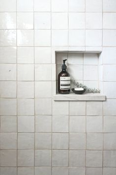 clé tile zellige glazed terracotta is one of the best handmade tiles for nearly any space. shown here in shower walls and shower niche - get this look at our website. Earthy Bathroom, Modern Bathroom, Small Bathroom, Master Bathroom, Minimalist Bathroom, Basement Bathroom, Bathroom Wall, Bad Inspiration, Bathroom Inspiration