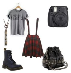 """""""Tallulah Farrow #Fangirl"""" by brynfoley on Polyvore featuring Miss Selfridge, Dr. Martens, Fuji and Tylie Malibu"""
